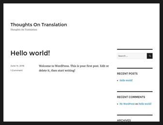 thoughtsontranslation.com screenshot
