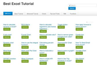 best-excel-tutorial.com screenshot
