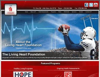 Main page screenshot of livingheartfoundation.org
