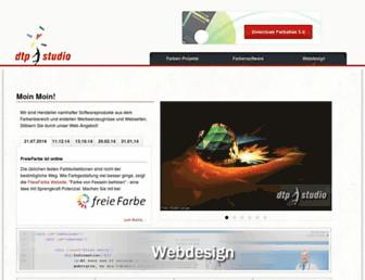 Main page screenshot of dtpstudio.de