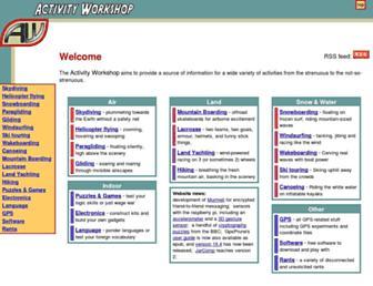 activityworkshop.net screenshot