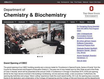chemistry.osu.edu screenshot