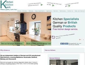 Main page screenshot of kitchensolutionskent.co.uk