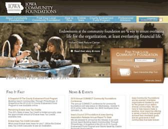 Main page screenshot of iowacommunityfoundations.org