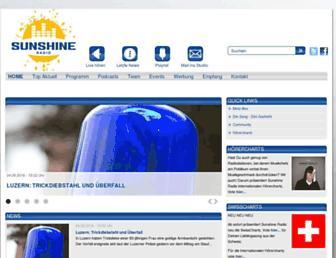 Main page screenshot of sunshine.ch