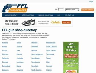Main page screenshot of fflgundealers.net