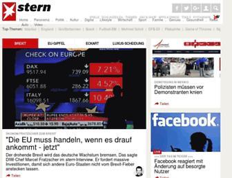 Main page screenshot of stern.de