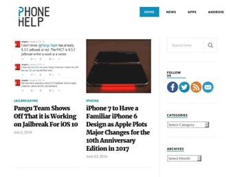Main page screenshot of iphonehelp.in