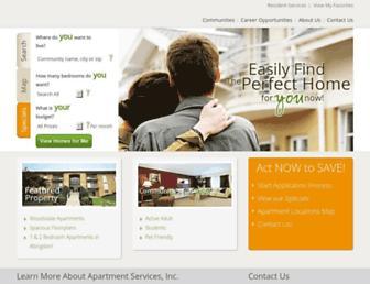 apartmentservices.com screenshot