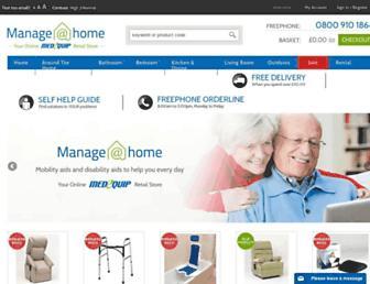 manageathome.co.uk screenshot