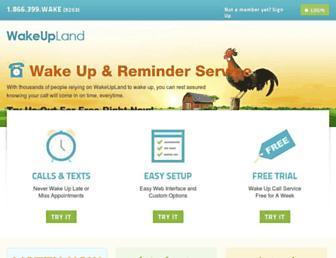 wakeupland.com screenshot
