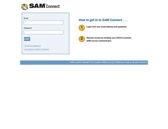 samconnect.scholastic.com screenshot