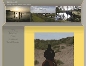 Main page screenshot of equibeach.be