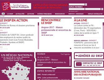 Main page screenshot of snsp.fr