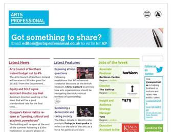 artsprofessional.co.uk screenshot