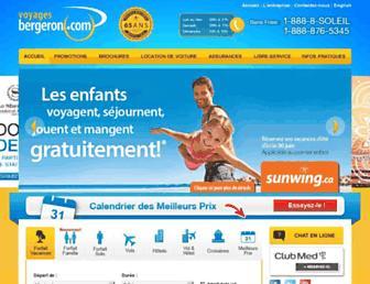 voyagesbergeron.com screenshot