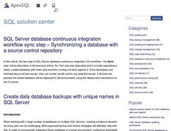 solutioncenter.apexsql.com screenshot