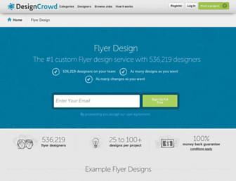 flyer.designcrowd.com screenshot