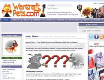 Thumbshot of Warcraftpets.com
