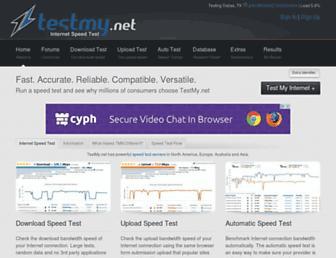 testmy.net screenshot