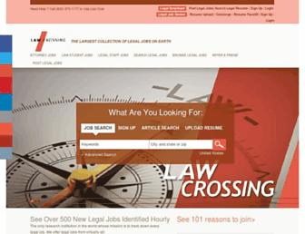 Thumbshot of Lawcrossing.com