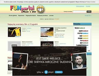 Main page screenshot of funportal.pl