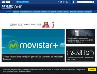 Main page screenshot of adslzone.net