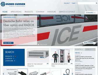 hubersuhner.com screenshot