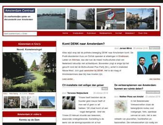 Main page screenshot of amsterdamcentraal.nl