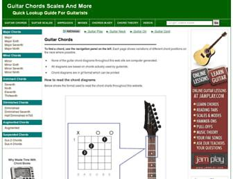 guitar-chords.org.uk screenshot