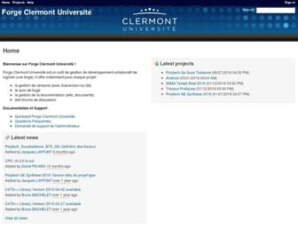 forge.clermont-universite.fr screenshot