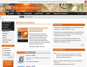 e3s-conferences.org screenshot