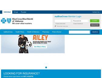 bcbsal.org screenshot