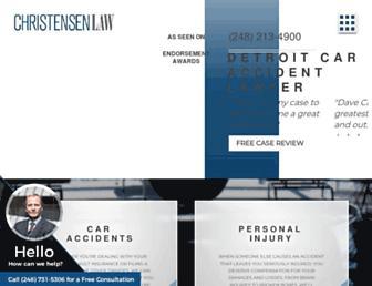 davidchristensenlaw.com screenshot