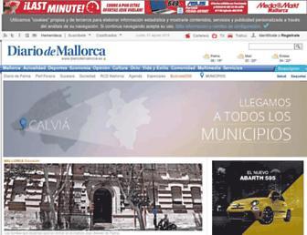 Main page screenshot of diariodemallorca.es