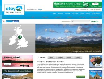 Main page screenshot of lakedistrict-stay.co.uk
