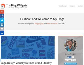 theblogwidgets.com screenshot