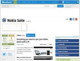 nokia-ovi-suite.en.softonic.com screenshot
