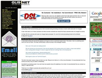 Main page screenshot of glis.net