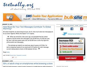 Main page screenshot of textually.org