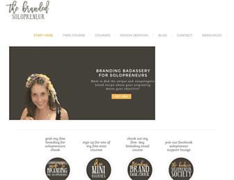 thebrandedsolopreneur.com screenshot