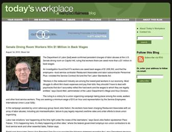 Main page screenshot of todaysworkplace.org