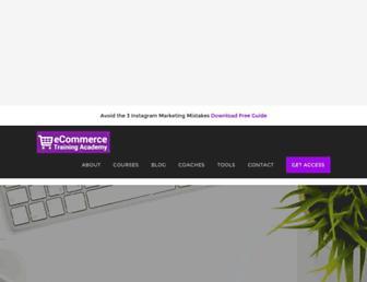 ecommercetrainingacademy.com screenshot