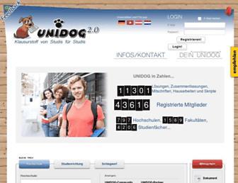 Main page screenshot of unidog.de