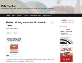 Main page screenshot of webteacher.ws