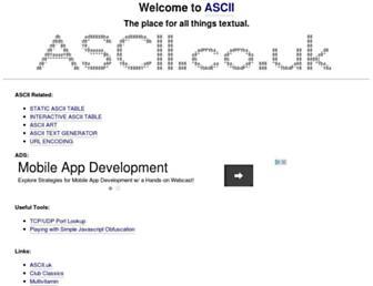 ascii.co.uk screenshot