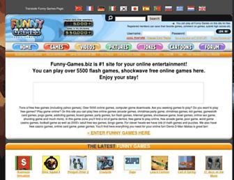 Main page screenshot of funny-games.biz