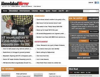 ahmedabadmirror.indiatimes.com screenshot