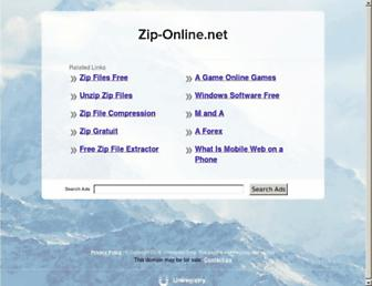 Main page screenshot of zip-online.net