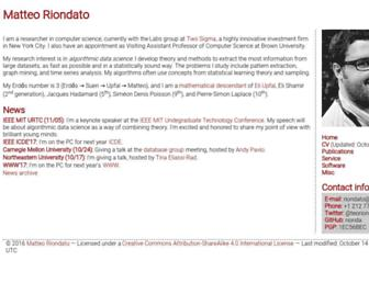 Main page screenshot of riondabsd.net